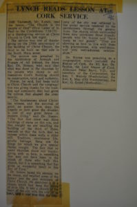 Jack Lynch newspaper article