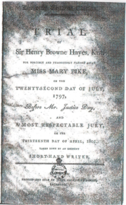 Trial advert for Henry Hayes