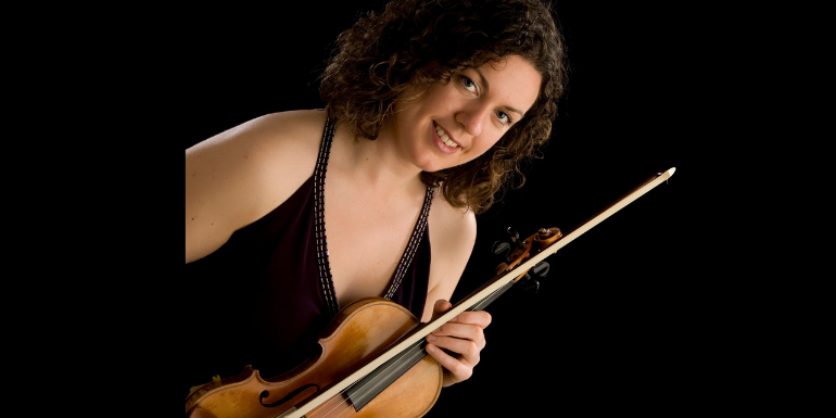 Maria Ryan, violinist with the Banbha Quartet